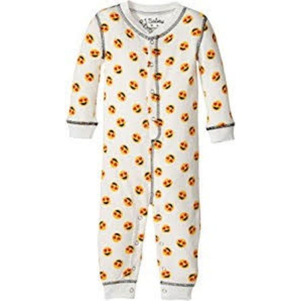 INFANT GIRLS MOOD EMOJI ROMPER
