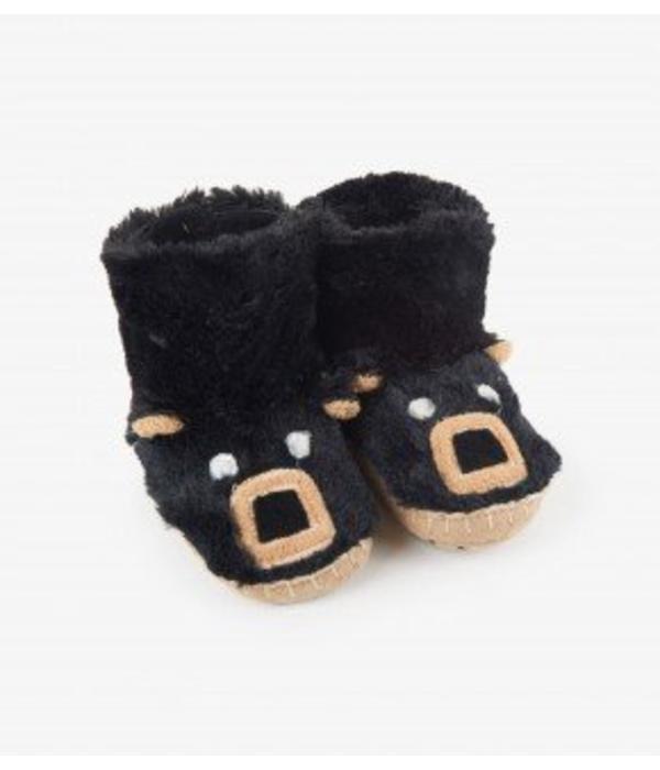 HATLEY BLACK BEAR KIDS SLIPPERS