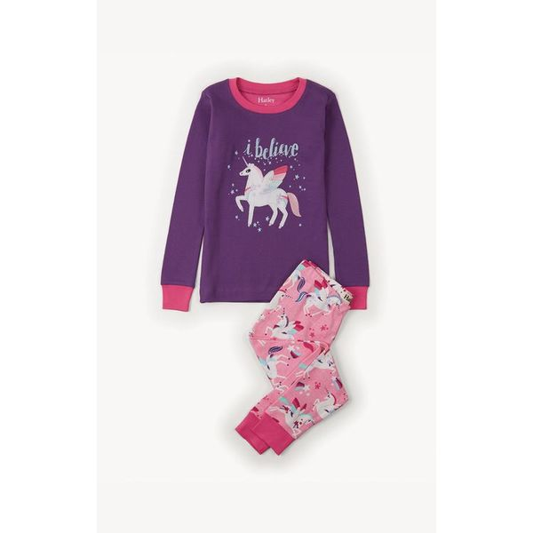 UNICORNS APPLIQUE PJ SET