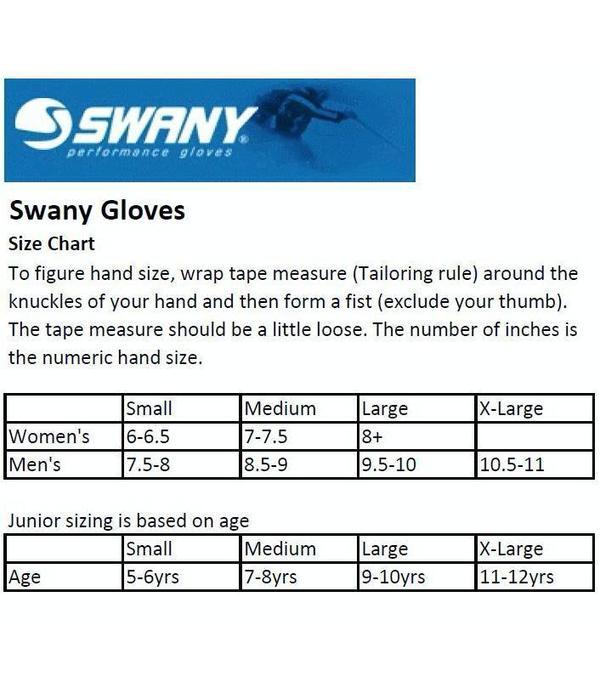 SWANY KIDS SKI GLOVES WOMEN'S LEGEND MITTEN - BLACK