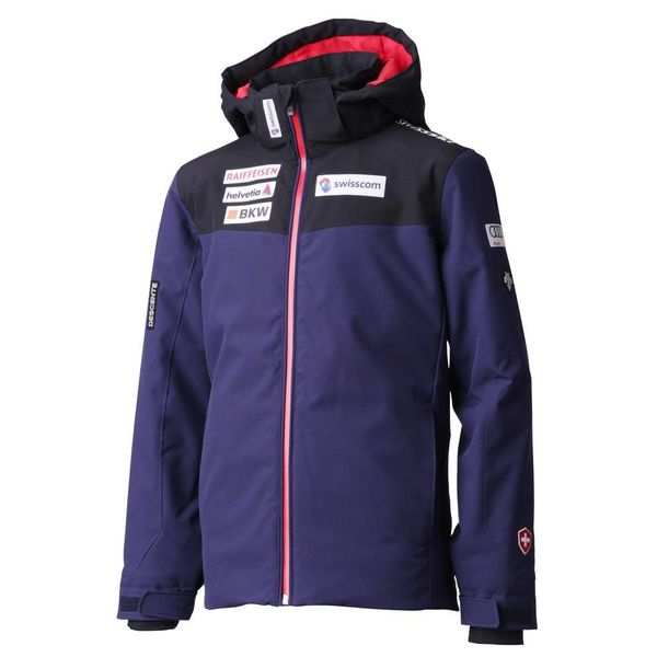 JUNIOR BOY'S SWISS TEAM JACKET - NAVY/BLACK/RED
