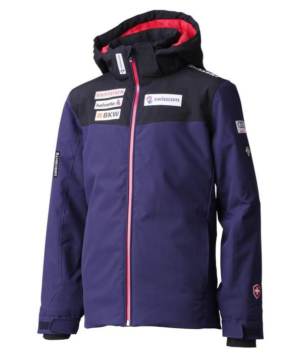 DESCENTE JUNIOR BOY'S SWISS TEAM JACKET - NAVY/BLACK/RED