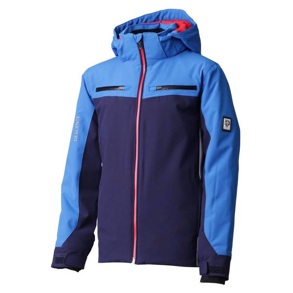 JUNIOR BOY'S SWISS JUNIOR JACKET - NAVY/BLUE/GREY/RED