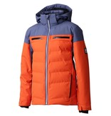DESCENTE JUNIOR BOY'S LEONIE JACKET - ORANGE/GREY/BLACK