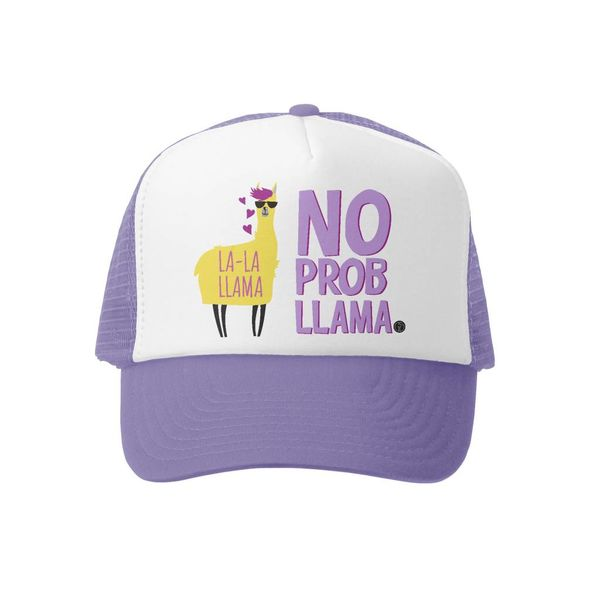NO PROBLLAMA KIDS TRUCKER HAT - LAVENDAR
