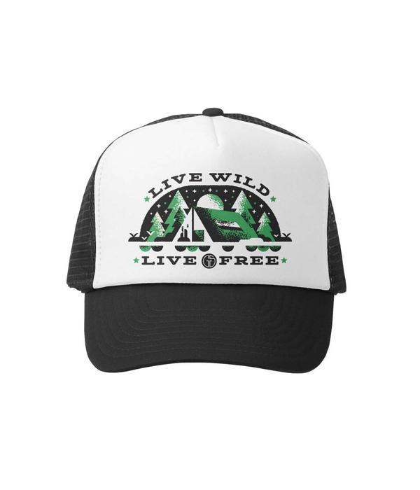 GROM SQUAD LIVE WILD & FREE TRUCKER HAT - BLACK