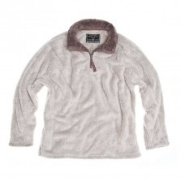 DOUBLE PLUSH 1/4 ZIP PULLOVER - OATMEAL