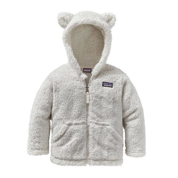 BABY FURRY FRIENDS HOODY - BIRCH WHITE