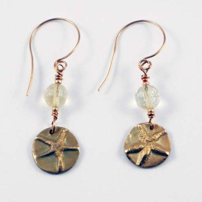 Bronze Starfish Earrings
