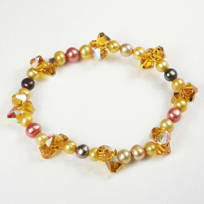 GOLD PEARL CRYSTAL BR