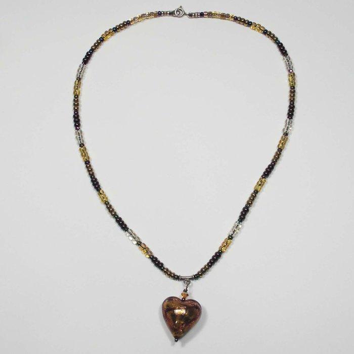 MURANO GLASS HEART NK