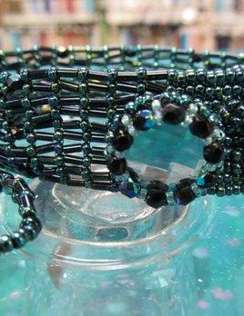 Dainty Diva Bracelet Class Kit - Swarovski Chessboard & Seed Beads