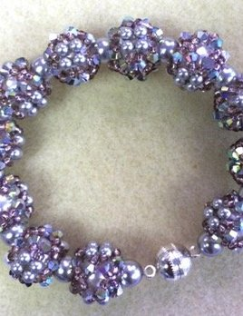 Disco Ball Bracelet Instructions & Materials Kit - Swarovski