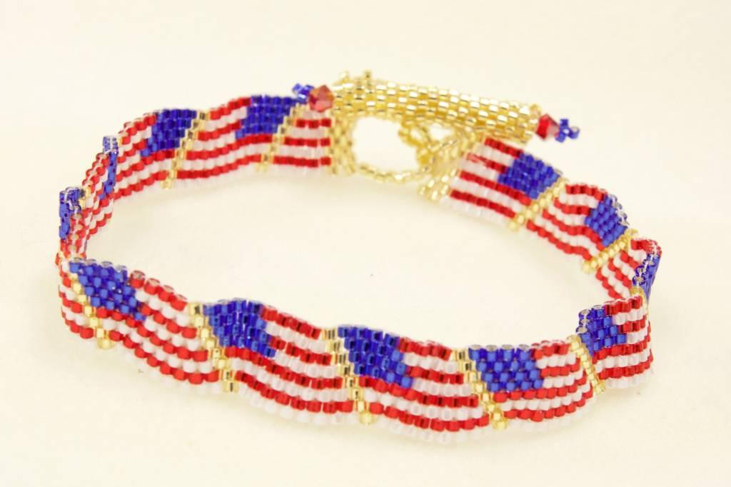5/29 6-9p Wavy Flag Bracelet