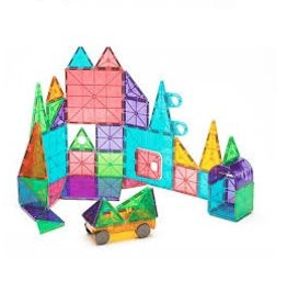 Magna Tiles MAGNA-TILES Clear Colors 48 Piece DX Set