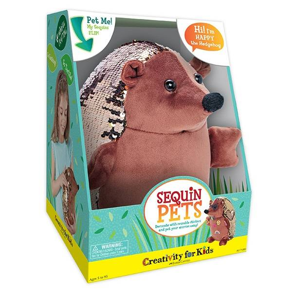 Faber Castell Sequin Pets: Happy the Hedgehog - Time 4 Toys