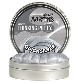 "Crazy Aaron's Putty Quicksilver Super Magnetic 4"" Tin plus magnet"