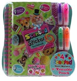 Hot Focus Scented Sticker Scrapbook, Sweet Crush