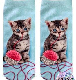 Living Royal Kitten and Yarn Ankle Socks