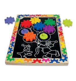 Melissa & Doug Switch & Spin Magnetic Gear Board