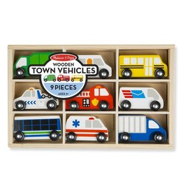 Melissa & Doug Wooden Town Vehicles