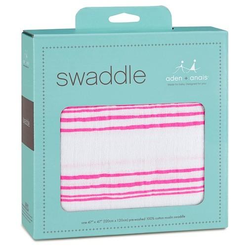 Aden & Anais Aden & Anais Fluro Pink Classic Single Swaddle