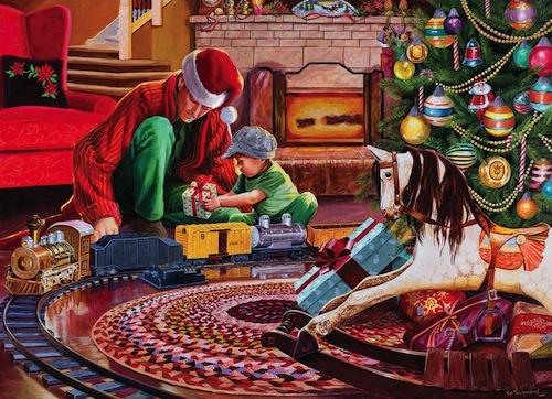 Cobble Hills Cobble Hills Christmas Tree Train 1000pc Puzzle
