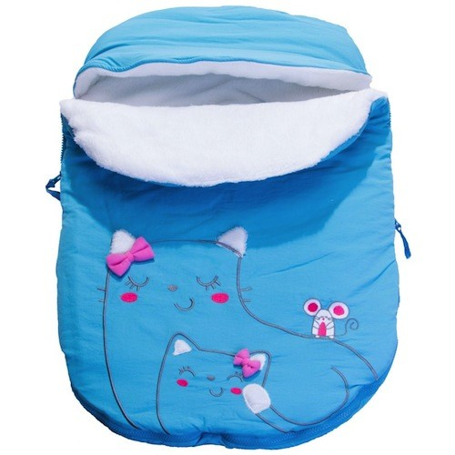 Calikids Calikids Aqua Kitty Bunting Bag