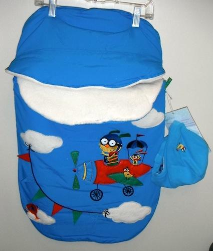 Calikids Calikids Blue Airplane Bunting Bag