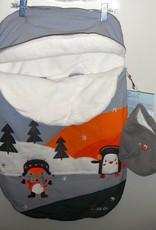 Calikids Calikids Grey Fox & Penguin Bunting Bag