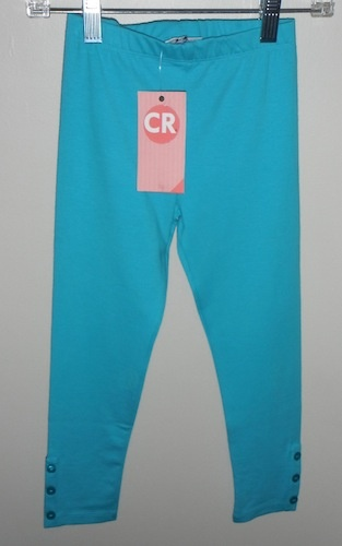 CR Kids CR Kids Basic Legging w/ Button Placket