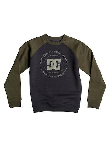 DC DC Rebuilt 2 Crew Raglan Shirt