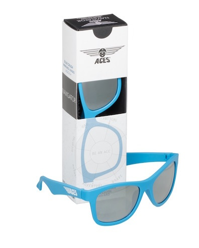 Babiators Aces Navigator Sunglasses Blue Crush w/ Mirrored Lens