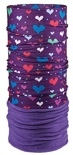 Bula Bula Kids MicroFleece Fury Tube Heart Violet