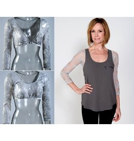 Sleevey Wonders Silver Lace- size L only