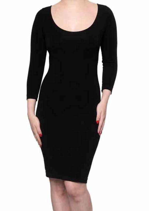 C'est Moi C'est Moi- Bamboo Dress 3/4 Sleeve Black