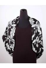 Lousje & Bean L&B- Black leaf infinity scarf