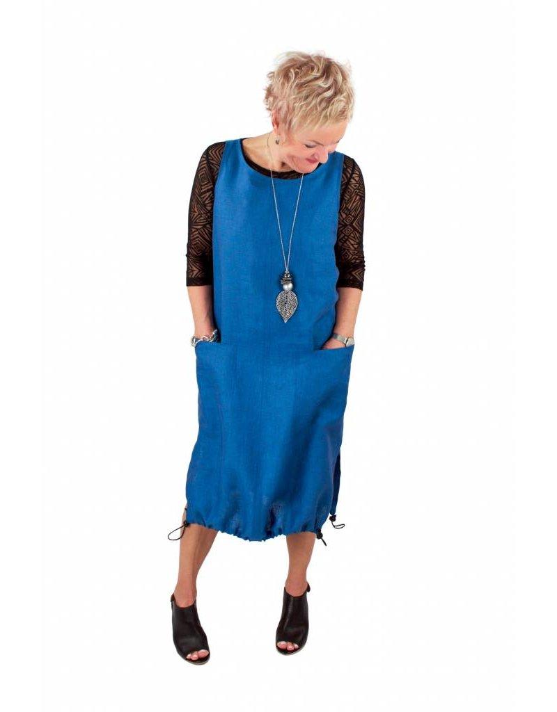 L&B- Linen Toggle Jumper- Blue
