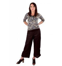 Emmy Tie Pants- Blk Linen