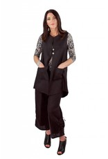 Lousje & Bean L&B- Linen Button Vest Blk