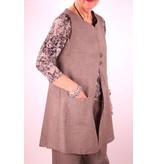 L&B- Linen Button Vest Grey