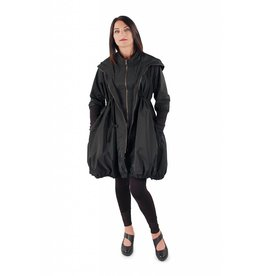 Lousje & Bean Bubble Coat- Black Taffeta