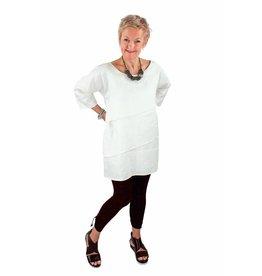 Lousje & Bean Sofia Dress in White Linen- Size XS only