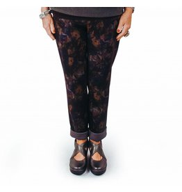 Mia Pants in Blk & Print