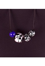 Zsiska- Abstract 4 Blue Necklace