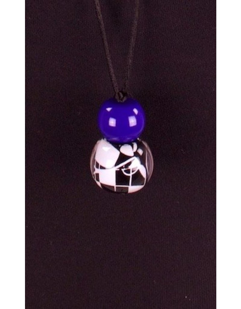 Zsiska- Abstract 2 Blue Necklace