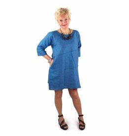 Lousje & Bean Sofia Dress in Azure Linen- Size XXL only