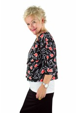 L&B- Sofia Top in Red Tulips