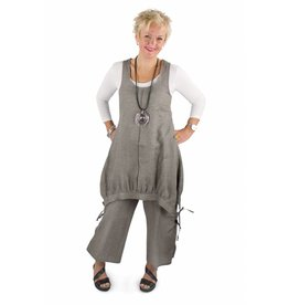 Linen Tank Jumper Grey- M only
