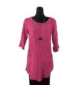 Grizas- Crunch Tunic- Fuschia